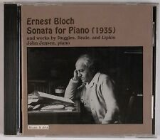 BLOCH: Sonata for Piano (1935) John Jensen MUSIC & ARTS Rare CD NM