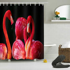 Waterproof Polyester African Flamingo Bathroom Decor Shower Curtain Hooks 72x72""