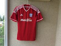 Cardiff City Away football shirt 2015/2016 Jersey S Adidas Soccer England