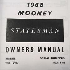 1968 Mooney Statesman M20G Owner's Manual