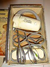 Vintage Hamilton Beach Model JM  No 51FM Hand Mixer Mixette 3 Speed 65 Watts