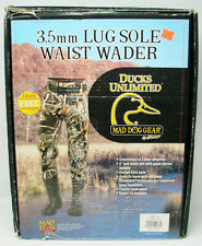 New NWT Ducks Unlimited Mad Dog Gear 3.5mm Lug Sole Waist Waders Sz 9 Neoprene