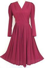 Vintage 1990s Teena Varigos Pink Pleated Dress 12-14