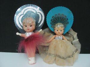 Vintage Celluloid Soft Plastic Kewpie Dolls 1930's Lot of 2