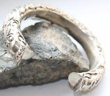 Antique Silver Tone Ornament Hand Bracelet