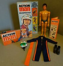 Vintage Action Man Helicopter Pilot And Box / Boxed
