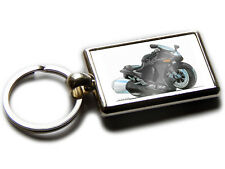 KAWASAKI ZZR 1100 Motorbike Koolart Chrome Keyring Picture Both Sides