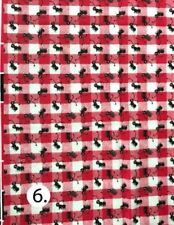 "Ants on pick-nick fabric, red Fabric - 28"" x 19"" - #C"