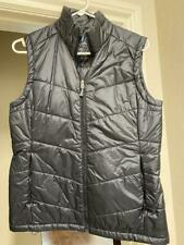 Ibex Women's Black Medium Packable Zip Up Vest Wool Aire Same Day Shipping!