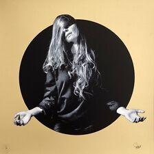 """SNIK """"Fading Glow"""" édition gold - sérigraphie sign-num/20 + COA - 65x65cm /hush"""