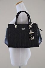 Authentic NWT GUESS Malena Satchel  with Style # SG622106 - BLACK