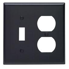 Leviton  2 gang Black  Nylon  Toggle/Duplex  Wall Plate  1 pk