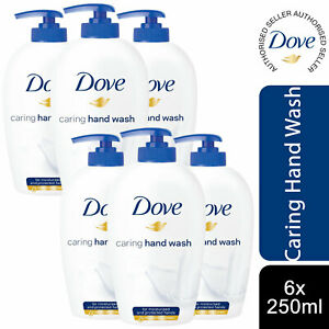 Dove Caring Hand Wash for Moisturised and protected Hands, 6 Pack, 250ml