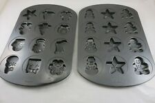 2 Wilton Christmas Cookie -Treat-Candy Form Pans Non Stick