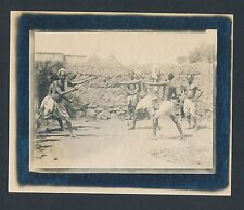 1910's FENCING in INDIA Natives in Full Costume Vintage Photo