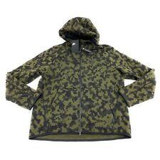 Nike Men's Sportswear Tech Fleece Green Camo Printed Full Zip Hoodie Size Large