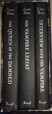 ANNE RICE INTERVIEW WITH THE VAMPIRE 3 VOLUME SET *SIGNED *LTD ED*