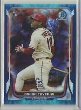2014 Bowman Chrome Baseball Oscar Tavares Bubble Refractor Rookie Card # 79/99