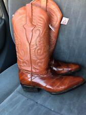 Los Altos Women's 6.5  Red Eel Leg Skin & Leather Western Cowboy Boots