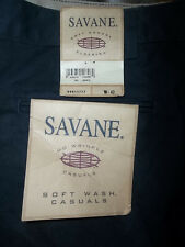 NEW 42 Savane Men's Shorts Navy Soft Wash Casual No Wrinkle NWT