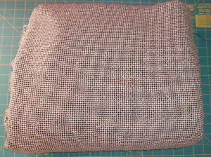 """5 Yards White Tan Black Fabric 60"""" w Cotton Blend Suiting"""
