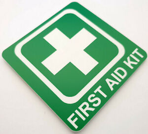 1st First Aid Kit Sign Plaque Laser Engraved for Kitchen Office Car Workplace