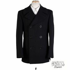 New listing Vintage 60s US NAVY Pea Coat 36R Midnight Blue Wool Heavyweight Double Breasted