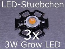 3x 3w LED lámpara de plantas, grow Light