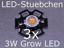 3x 3 W DEL Lampe Plantes, Grow Light