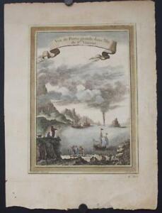 PORTO GRANDE BAY SÃO VICENTE CAPE VERDE ISLANDS 1749 BELLIN UNUSUAL ANTIQUE VIEW
