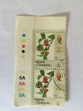 Malaysia Malaya 1986 Pahang 1c Corner Stamps Block 2.