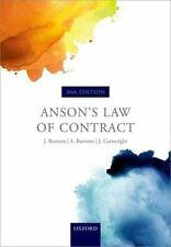 ANSON'S LAW OF CONTRACT - BEATSON, JACK, SIR/ BURROWS, ANDREW/ CARTWRIGHT, JOHN