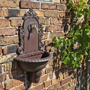 Garten Waschbecken Ausgussbecken für aussen draußen antik look Wand Brunnen