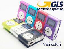 MP3 LETTORE MUSICALE POD NANO MINI CLIP USB FM RADIO CUFFIE MEMORIA FINO A 32GB