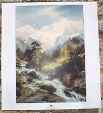"In The Teton Range by Thomas Moran 18"" x 20"" Western Art Print"