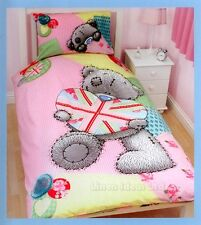 Me to You Tatty Teddy Vintage Pink Girls Single Duvet Quilt Cover Bedding Set