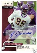 2005 UD Erasmus James rookie autograph Vikings 261/575