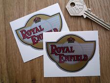 ROYAL ENFIELD Motorcycle Petrol Tank Stickers 65mm Pair Helmet Trials Bike Badge