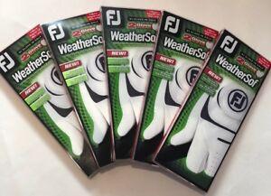 BRAND NEW 2021 Men's FJ WeatherSof Value (5)double packs(10 gloves)Free Ship!