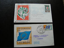 FRANCE - 2 enveloppes 1er jour 1969/71 (unesco/conseil europe) (cy89) french