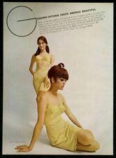 1967 Gossard lingerie 2 women gold slip bra panty girdle color photo print ad
