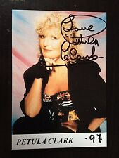 PETULA CLARK -  CHART TOPPING SINGER - SUPERB SIGNED PHOTOGRAPH