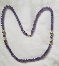 """AMETHYST necklace beads 28"""". With Enamel beads"""