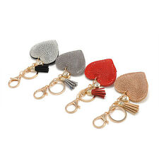 Crystal Heart Full Rhinestone Handbag Tassel Charm Pendant Key Chain Bag Keyring