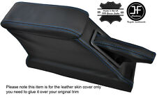 BLUE STITCH CENTRE CONSOLE ARMREST GAITER COVERS FOR FORD CORTINA MK5 CRUSADER