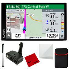 Garmin DriveSmart 65 & Traffic with 4 Port USB/DC Car Charger & More Bundle