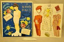 1947 PENNY TEKWOOD PAPER DOLL  #3985 - RARE UNCUT ORIGINAL