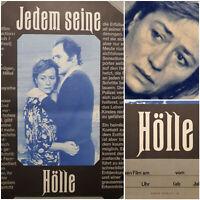 JEDEM SEINE HÖLLE | 1980 Kino Plakat Poster A2 | Annie Girardot Bernard Fresson