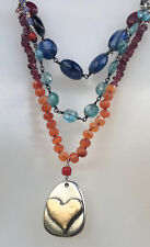New Jes MaHarry Love is Lovely Necklace silver/gold ret'l $1490 apatite kyanite