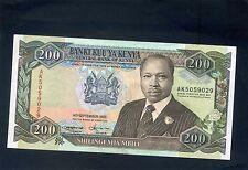 Kenia 200 chelines billete 1993